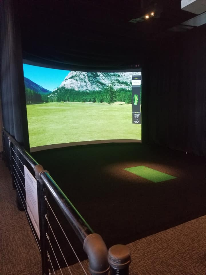 Interior shot of the virtual reality room at House Divided